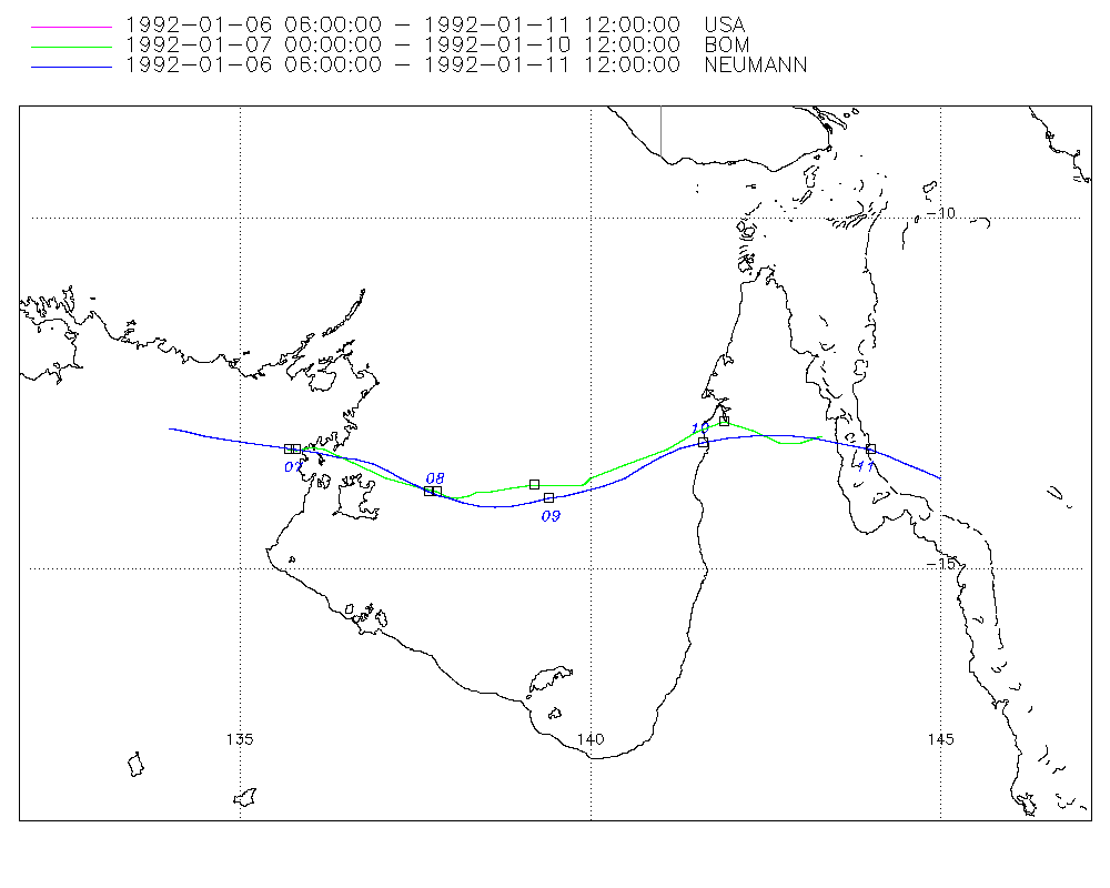 Map of storm track