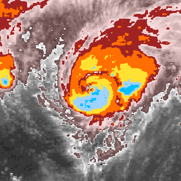 Satellite image near maximum intensity